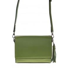 На фото 2 - Маленькая сумочка из натуральной кожи зеленого цвета 8002MK5