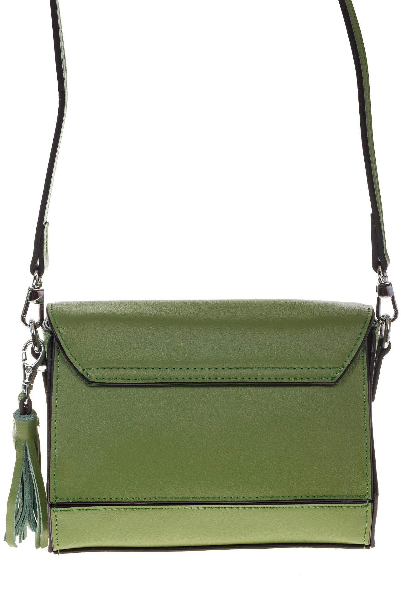 На фото 3 - Маленькая сумочка из натуральной кожи зеленого цвета 8002MK5