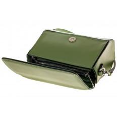 На фото 4 - Маленькая сумочка из натуральной кожи зеленого цвета 8002MK5