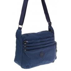 На фото 1 - Синяя тканевая сумка с множеством карманов