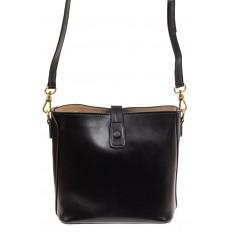 На фото 2 - Женская сумка из натуральной кожи, цвет черный