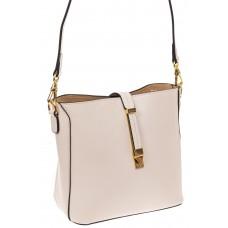 На фото 1 - Женская сумка из натуральной кожи, цвет белый