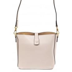 На фото 2 - Женская сумка из натуральной кожи, цвет белый