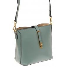 На фото 1 - Женская сумка из натуральной кожи, цвет мята