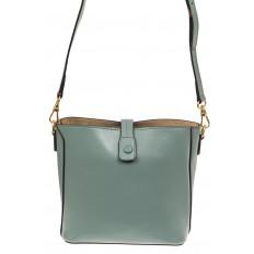 На фото 2 - Женская сумка из натуральной кожи, цвет мята