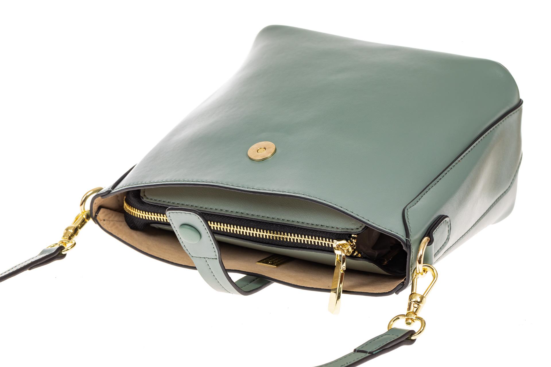 На фото 3 - Женская сумка из натуральной кожи, цвет мята