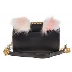 На фото 3 - Женская сумка из меха лисы, розовый мультицвет