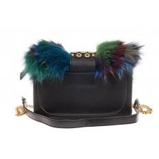 На фото 3 - Женская сумка из меха лисы, синий мультицвет