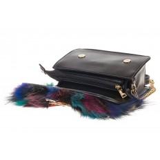 На фото 4 - Женская сумка из меха лисы, синий мультицвет