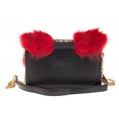 На фото 3 - Женская сумка из меха лисы, красный мультицвет