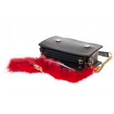 На фото 4 - Женская сумка из меха лисы, красный мультицвет