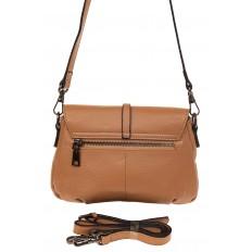 На фото 2 - Мини shoulder bag из натуральной кожи, цвет бежевый