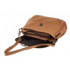 На фото 3 - Мини shoulder bag из натуральной кожи, цвет бежевый