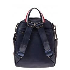 На фото 2 - Женский рюкзак из натуральной кожи, цвет синий