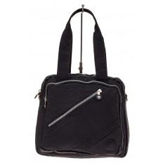На фото 2 - Текстильная сумка-рюкзак, цвет черный
