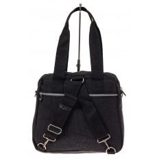 На фото 3 - Текстильная сумка-рюкзак, цвет черный