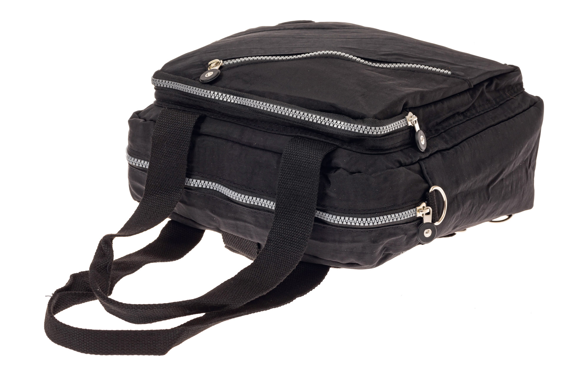 На фото 4 - Текстильная сумка-рюкзак, цвет черный
