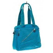 На фото 1 - Текстильная сумка-рюкзак, цвет голубой