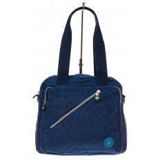 На фото 2 - Текстильная сумка-рюкзак, цвет синий