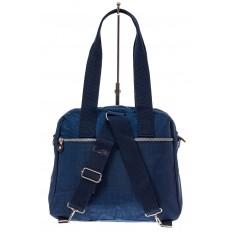 На фото 3 - Текстильная сумка-рюкзак, цвет синий