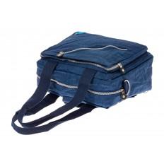 На фото 4 - Текстильная сумка-рюкзак, цвет синий