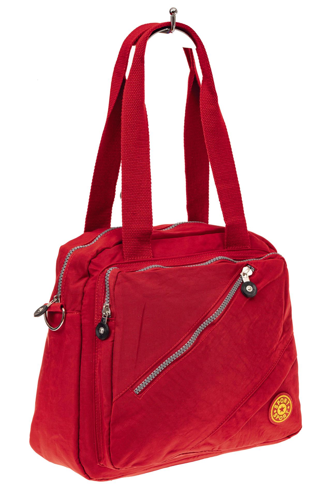 На фото 1 - Текстильная сумка-рюкзак, цвет красный