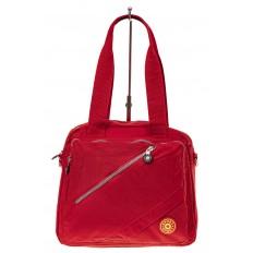 На фото 2 - Текстильная сумка-рюкзак, цвет красный