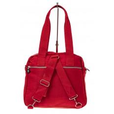 На фото 3 - Текстильная сумка-рюкзак, цвет красный