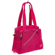 На фото 1 - Текстильная сумка-рюкзак, цвет малиновый