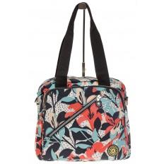 На фото 2 - Текстильная сумка-рюкзак с белым принтом
