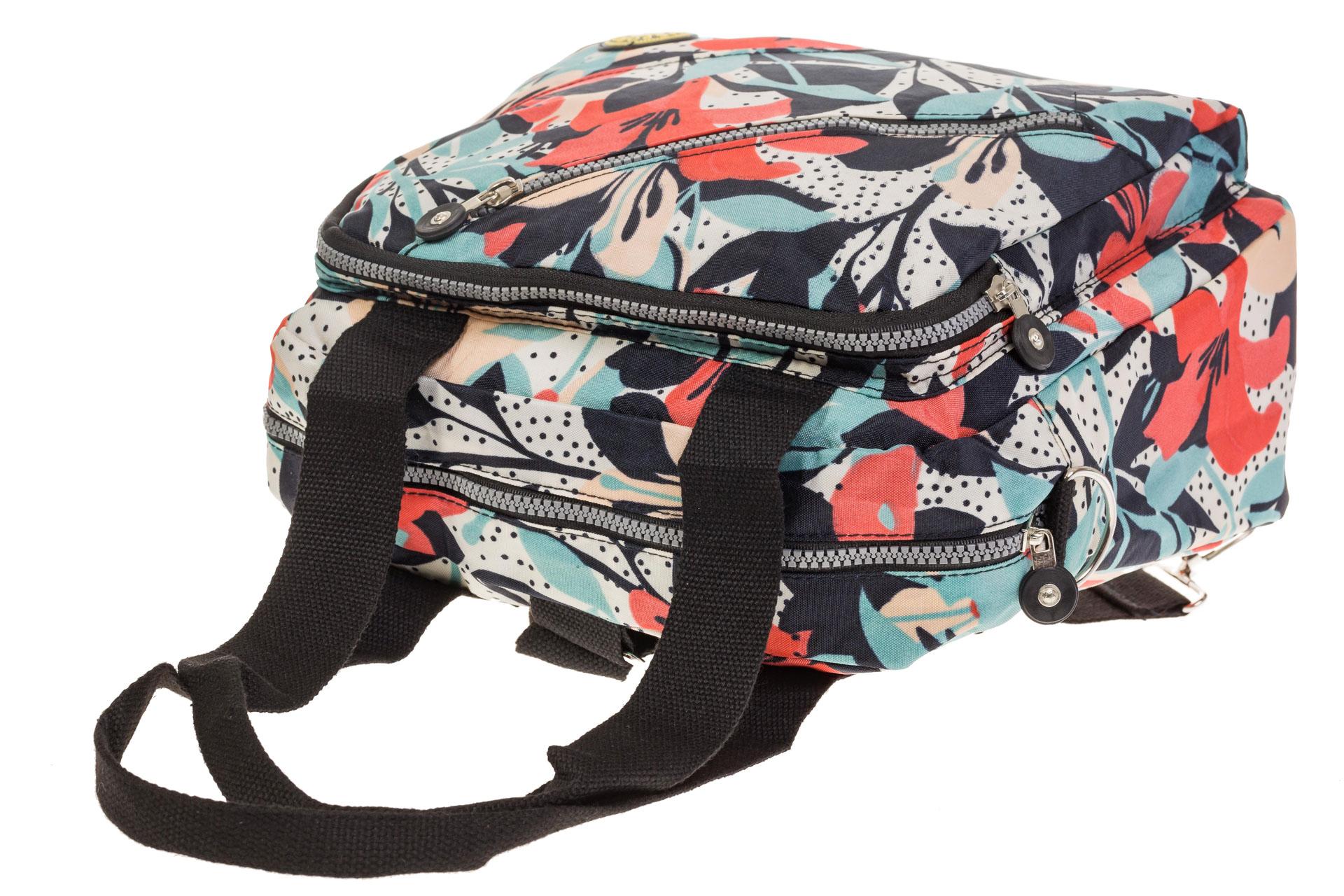 На фото 4 - Текстильная сумка-рюкзак с белым принтом