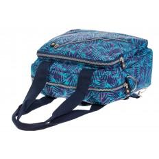 На фото 4 - Текстильная сумка-рюкзак с синим принтом