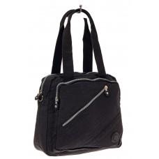 На фото 1 - Тканевая сумка-рюкзак, цвет черный