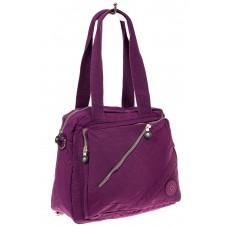 На фото 1 - Текстильная сумка-рюкзак, цвет фиолетовый