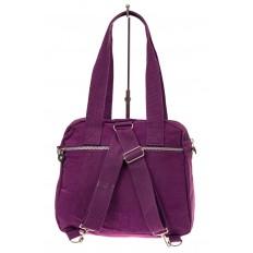 На фото 3 - Текстильная сумка-рюкзак, цвет фиолетовый