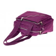 На фото 4 - Текстильная сумка-рюкзак, цвет фиолетовый