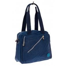 На фото 1 - Тканевая сумка-рюкзак, цвет синий
