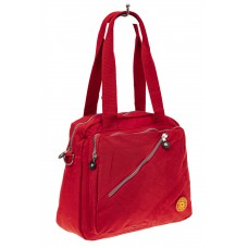 На фото 1 - Тканевая сумка-рюкзак, цвет красный