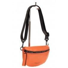 На фото 1 - Кросс-боди из натуральной кожи, цвет оранже...