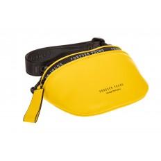 На фото 3 - Кросс-боди из натуральной кожи, цвет желтый