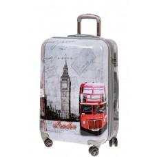 На фото 1 - Большой пластиковый чемодан с фото-принтом ...