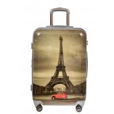 На фото 2 - Пластиковый чемодан с Эйфелевой Башней
