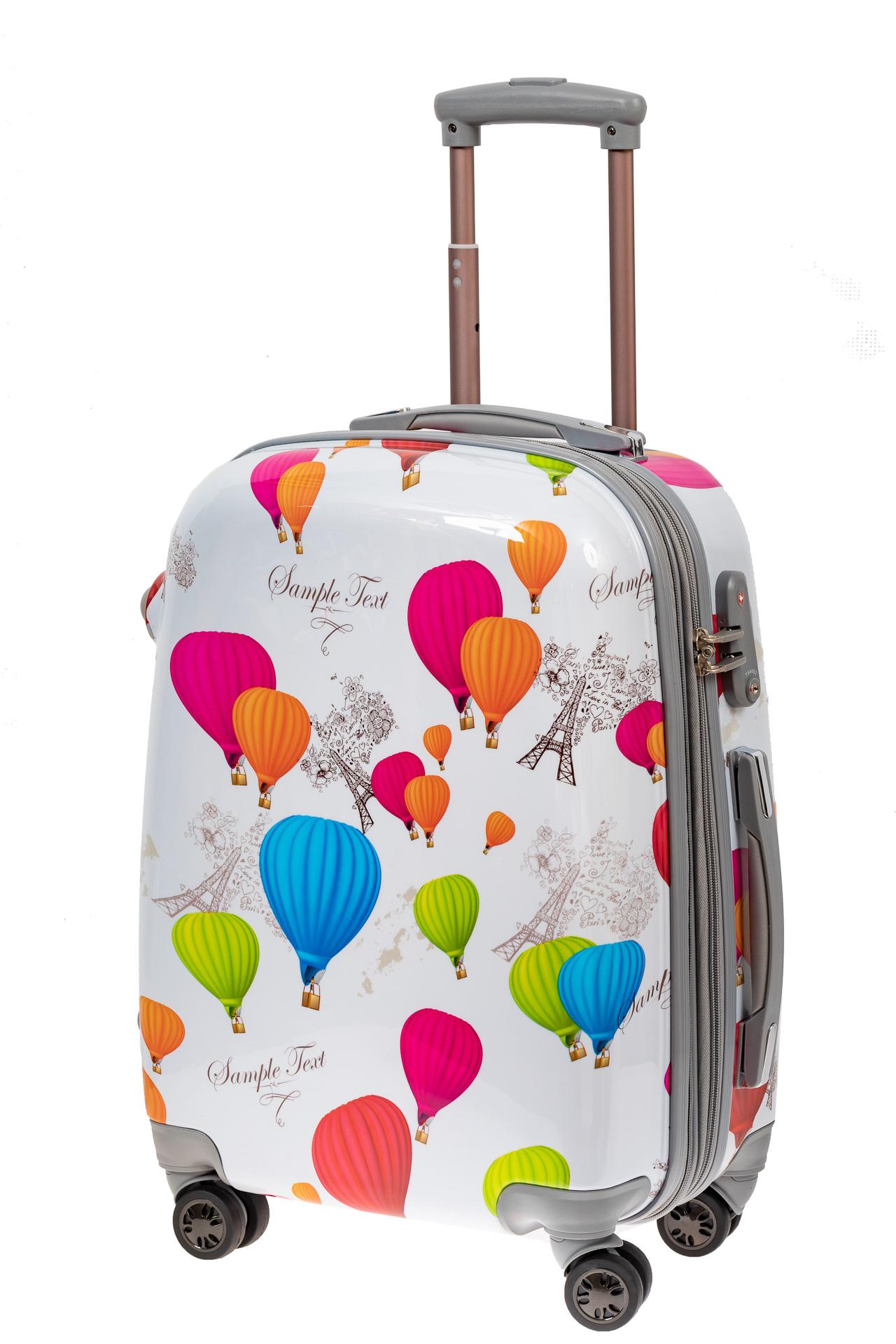 На фото 1 - Небольшой пластиковый чемодан с символами Франции