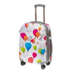 На фото 1 - Небольшой пластиковый чемодан с символами Ф...