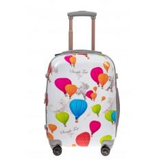 На фото 2 - Небольшой пластиковый чемодан с символами Франции