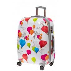 На фото 1 - Большой пластиковый чемодан с символами Фра...