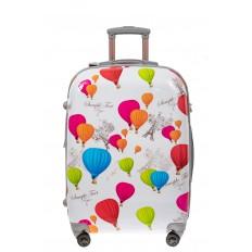 На фото 2 - Большой пластиковый чемодан с символами Франции