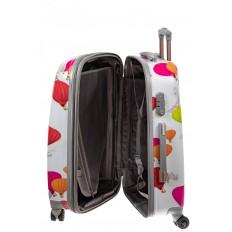 На фото 3 - Большой пластиковый чемодан с символами Франции