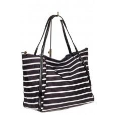 На фото 1 - Женская сумка из велюра , черный с белым