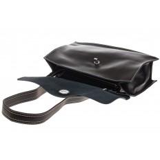На фото 4 - Мягкая сумка из натуральной кожи черного цвета